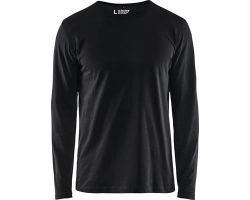T-shirt BLÅKLÄDER långärmad svart strl. XS