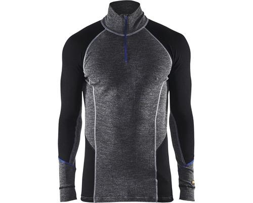 Underställ BLÅKLÄDER tröja zip warm merinoull grå/svart XXXL