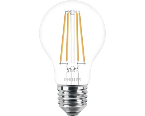 Ljuskälla PHILIPS LED classic A60 klar E27/8,5W(75W) 1055lm 2700K