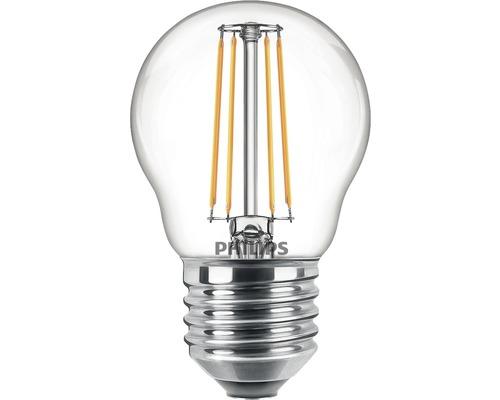 Ljuskälla PHILIPS LED classic P45 klar E27/4,3W(40W) 470lm 2700K