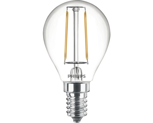 Ljuskälla PHILIPS LED classic klar P45 E14/2W(25W) 250lm 2700K