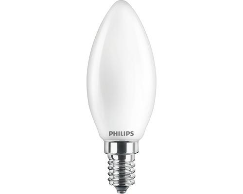 Ljuskälla PHILIPS LED classic B35 matt E14/4,3W(40W) 470lm 2700K