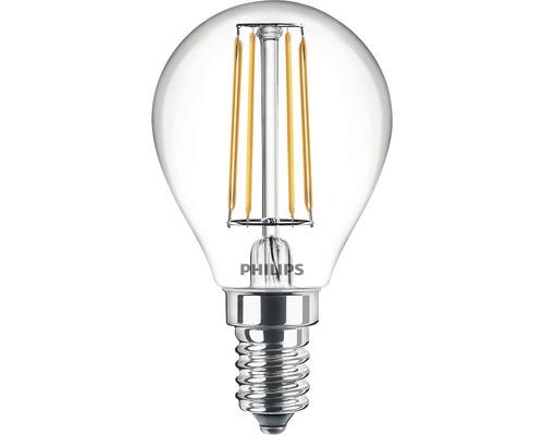 Ljuskälla PHILIPS LED classic P45 klar E14/4,3W(40W) 470lm 2700K
