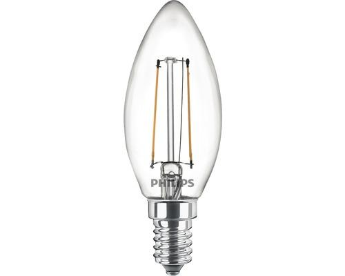 Ljuskälla PHILIPS LED classic B35 klar E14/2W(25W) 250lm 2700K