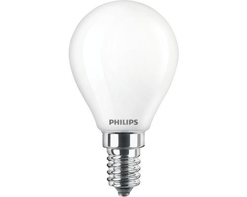Klotlampa PHILIPS LED 4,5W(40W) P45 E14 470lm 2200-2700K dimbar