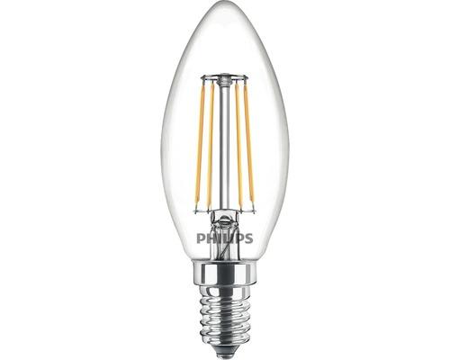 Ljuskälla PHILIPS LED classic B35 klar E14/4,3W(40W) 470lm 2700K