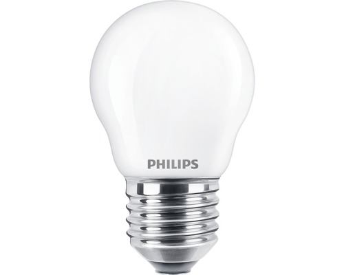 Ljuskälla PHILIPS LED classic P45 matt E27/4,3W(40W) 470lm 2700K