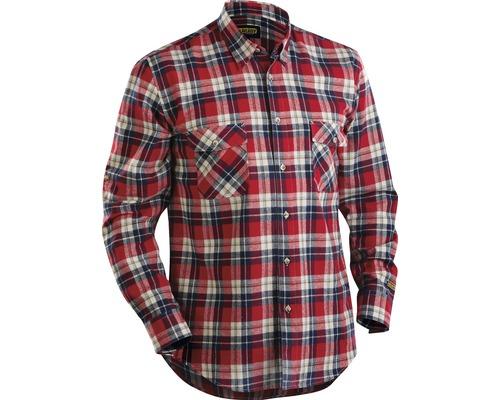 Flanellskjorta BLÅKLÄDER röd/marinblå L