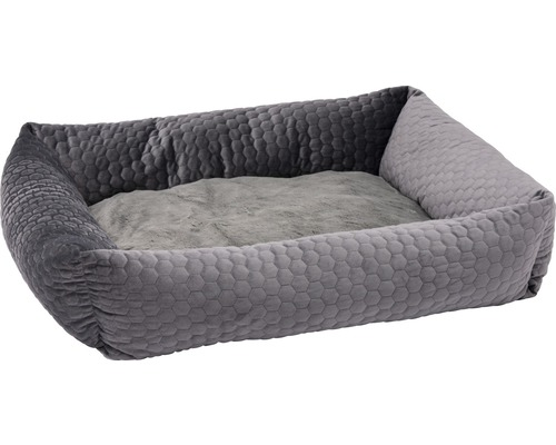 Hundbädd KARLIE Velvet 80x70x22cm grå