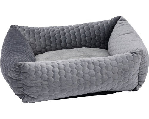 Hundbädd KARLIE Velvet 45x45x23cm grå