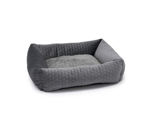 Hundbädd KARLIE Velvet 65x60x20cm grå