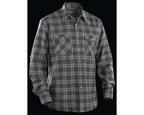 Flanellskjorta BLÅKLÄDER mörkgrå/grå S