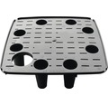 Självvattnande krukinsats LAFIORA Quadrato plast 18x18x52cm svart