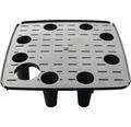 Självvattnande krukinsats LAFIORA Quadrato plast 34x34x62cm svart