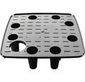 Självvattnande krukinsats LAFIORA Quadrato plast 22x22x55cm svart