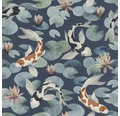 Tapet RASCH Kimono Koi blåvit
