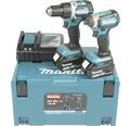 Verktygspaket MAKITA DLX2189TJ 18V 2 maskiner med 2 st 5,0Ah batterier+snabbladdare i MAKPAC
