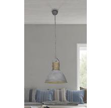 Taklampa BRILLIANT Frieda 1x60W Ø 400mm trä/grå