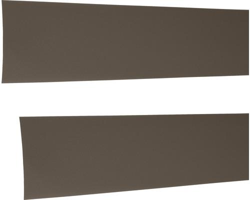 Täcklist ELFA till bärlist Graphite 581x1x47mm brun 422525