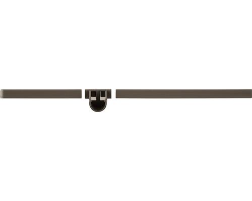Konsoltäcklist ELFA Graphite 33x420x33mm brun 480725
