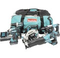 Verktygspaket MAKITA DLX5032T 18V 5 st maskiner med 3 st 5,0Ah batterier+laddare i tygväska med hjul