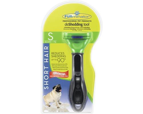 Hundkam FURMINATOR Dog Tool Short Hair S svart/grön
