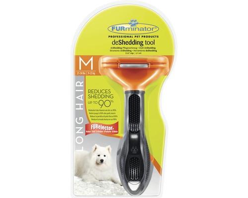 Hundkam FURMINATOR Dog Tool Long Hair M svart/orange