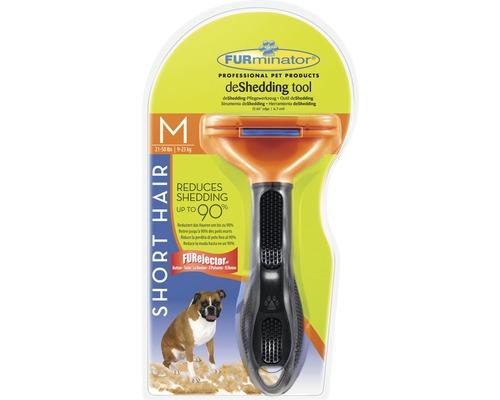 Hundkam FURMINATOR Dog Tool Short Hair M svart/orange