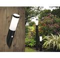 Vägglampa LALUMI Dody med sensor H 390mm IP44 svart