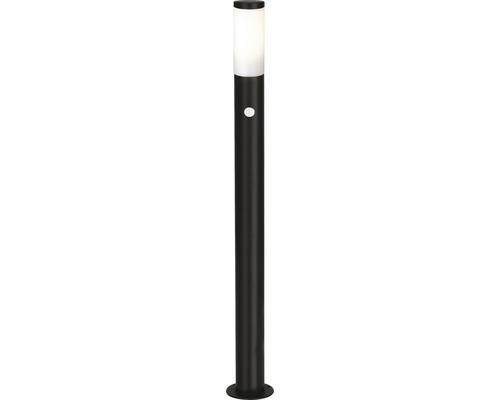 Stolplykta LALUMI Dody med sensor 10W E27 H 1110mm IP44 svart