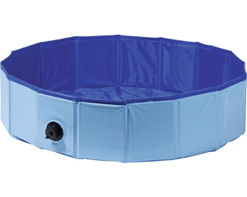 Hundpool DOBAR S inkl. vattentömningsventil Ø80x20cm blå