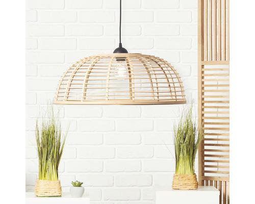 Taklampa BRILLIANT Crosstown 1-lågig HxØ 1200x560mm plast/bambu svart/natur