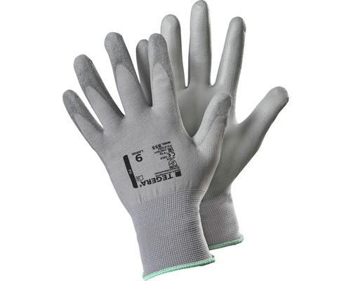 Syntethandske TEGERA 855 handflatedoppad grå strl. 10