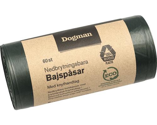 Hundbajspåsar DOGMAN nedbrytningsbara grön 60-pack