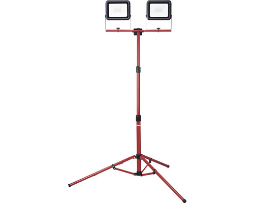 Strålkastare MALMBERGS Pollux LED 2x30W med teleskopstativ max. höjd 1697mm IP54