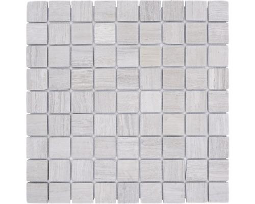 Mosaik natursten MOS 32/2012 30,5x30,5 cm pastellbeige/grå