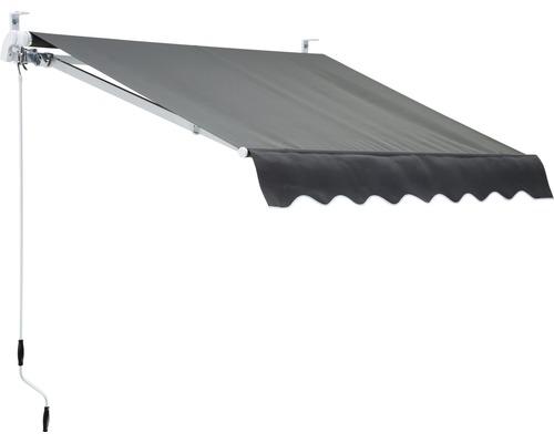 Terrassmarkis 200x150 cm enfärgad grå