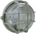 Gallerarmatur rund med plastkorg grå