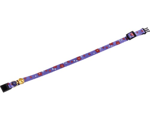 Katthalsband KARLIE blommotiv 1x30cm blå