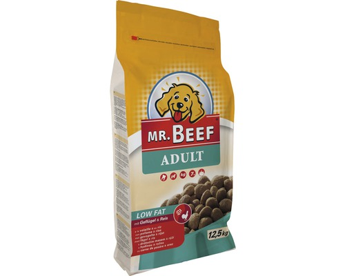 Hundmat MR. BEEF Adult Low Fat fågel och ris 12,5kg