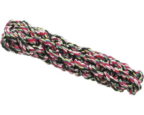 Hundleksak KARLIE bomullsrep knuten 20cm flerfärgad
