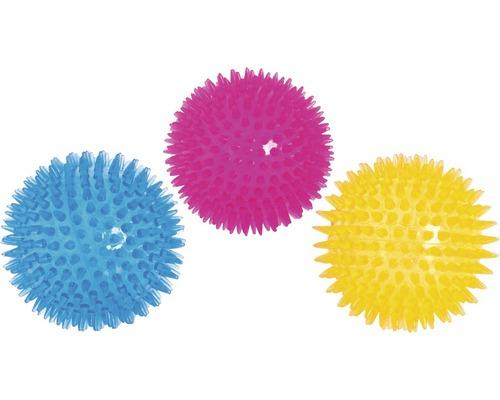 Hundleksak KARLIE taggad boll 8cm blandade färger