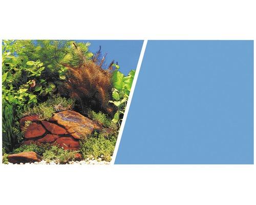 Fotobakvägg FLUVAL 30cm växter med stenar/blå metervara