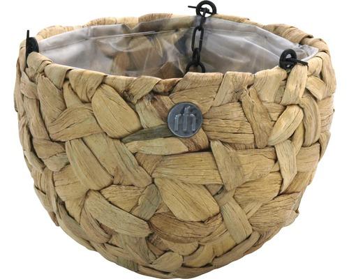 Ampel MÜLLER vattenhyacint med folie Ø20x14cm natur
