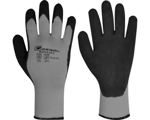 GEBOL arbetshandskar Winter Grip grå/svart storlek 10