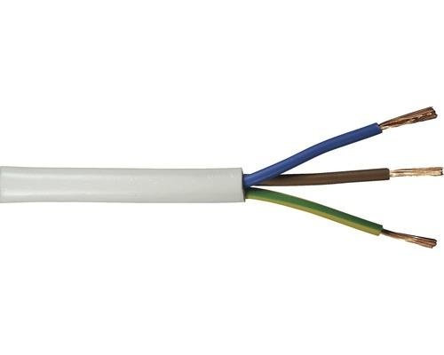 Anslutningskabel SKK (H03 VVF), 3G 0,75 mm², vit, 10 m