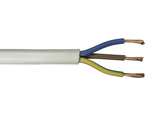Anslutningskabel RKK (H05 VV-F), 3G 1,5 mm², vit, 20 m