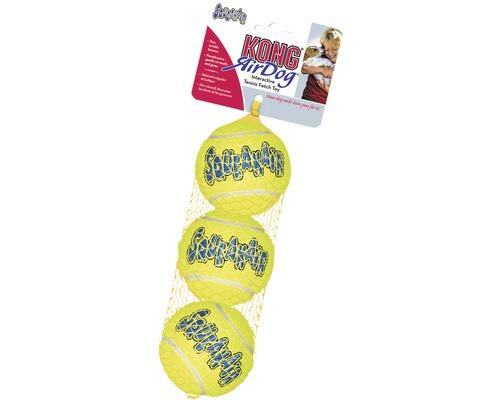 Hundleksak KONG tennisboll S 3-pack gul