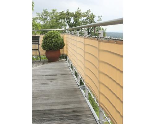Balkongskydd enligt mått creme