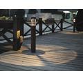 Pollare MALMBERGS Fenix LED mörkgrå, 9 W, höjd 650mm, integrerad ljuskälla, IP54, 9977011